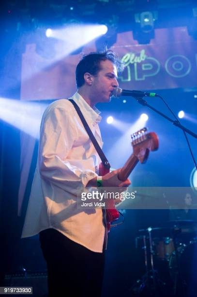 Jordan Corso of Cotillon performs on stage during Burguer Invasion Festival at Sala Apolo on February 17 2018 in Barcelona Spain