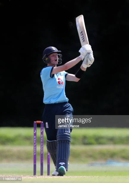 Jordan Cox of England U19 bats during the TriSeries match between England U19 and Bangladesh U19 at The County Ground on August 05 2019 in Beckenham...