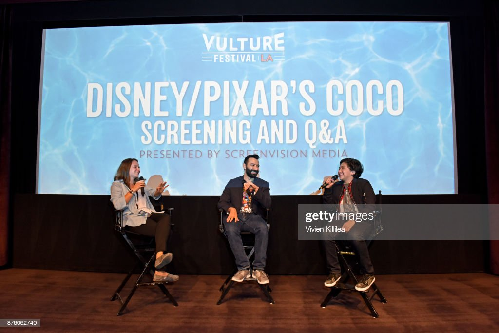 """Vulture Festival LA Presented By AT&T - Pixar's """"COCO"""" Screening And Interview Presented By Screenvision Media"""