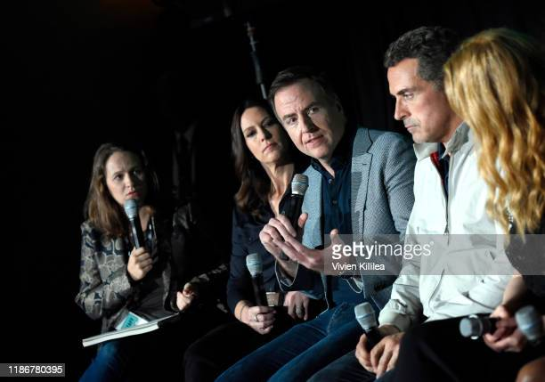 Jordan Crucchiola Isa Dick Hackett David Scarpa Rufus Sewell and Chelah Horsdal speak onstage at Vulture Festival Presented By ATT at The Roosevelt...