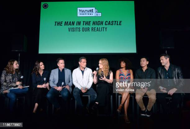 Jordan Crucchiola Isa Dick Hackett David Scarpa Rufus Sewell Chelah Horsdal Frances Turner Joel de la Fuente and Jason O'Mara speak onstage at...