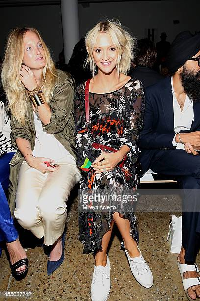 Jordan Daley and Zana Roberts Rossi attend Timo Weiland Women's runway show during MADE Fashion Week Spring 2015 at Milk Studios on September 9 2014...