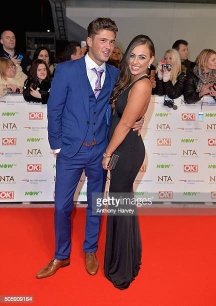 Jordan Davies and guest attend the 21st National Television Awards at The O2 Arena on January 20 2016 in London England
