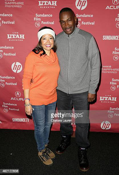 Jordan Davis' parents Lucia McBath and Ron Davis attend the 3 1/2 Minutes premiere during the 2015 Sundance Film Festival on January 24 2015 in Park...