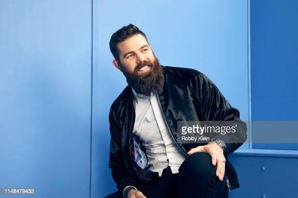 Jordan Davis poses for a portrait during the 2019 CMT Music Awards at Bridgestone Arena on June 5 2019 in Nashville Tennessee