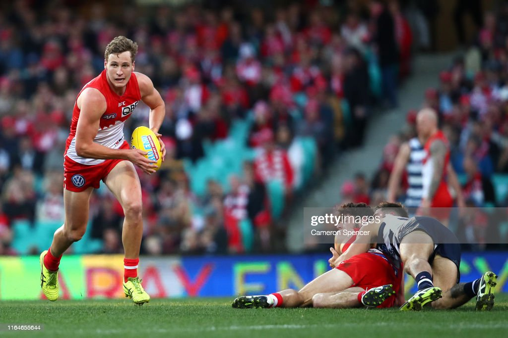 AFL Rd 19 - Sydney v Geelong : News Photo