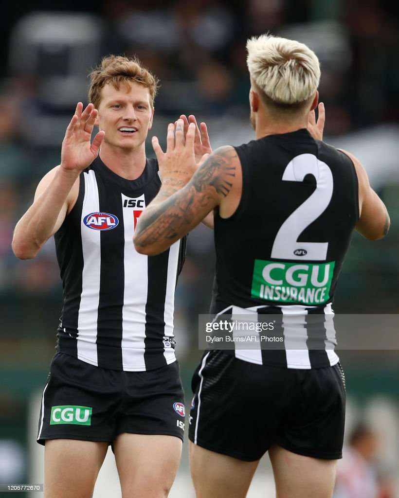 Jordan De Goey Of The Magpies Celebrates A Goal With Will News Photo Getty Images