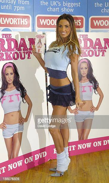 Jordan during Jordan Signs Her DVD 'The Jordan Workout' at Woolworths in Dartford January 5 2006 at Woolworths Lakeside in Dartford Great Britain