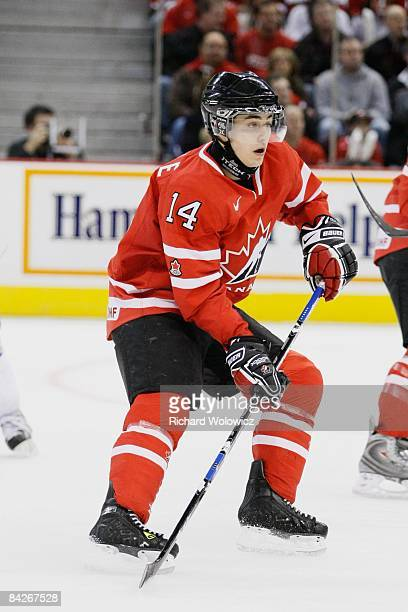 Jordan Eberle of \can \skates during the game against Team Kazakhstan at the IIHF World Junior Championships at Scotiabank Place on December 28, 2008...