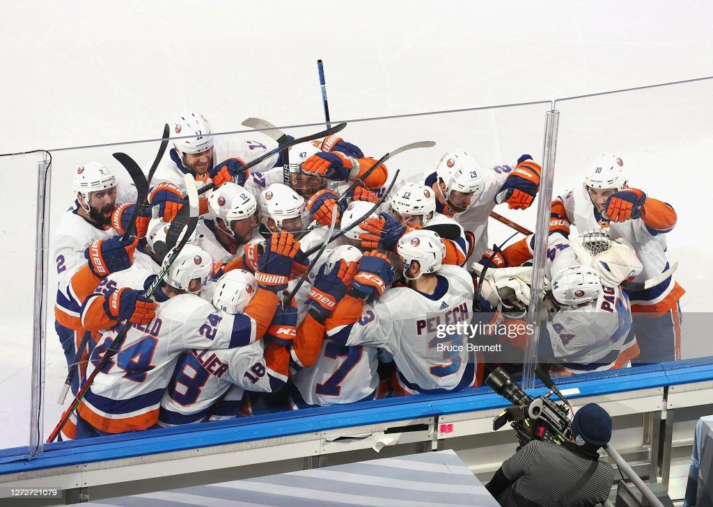 New York Islanders v Tampa Bay Lightning - Game Five : Foto di attualità
