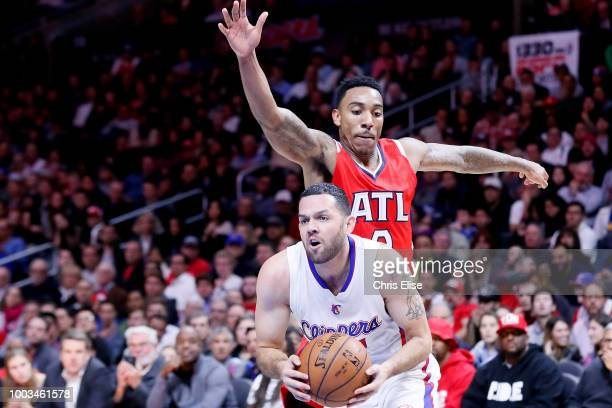 Jordan Farmar of the LA Clippers handles the ball against the Atlanta Hawks on January 5 2015 at the STAPLES Center in Los Angeles California NOTE TO...