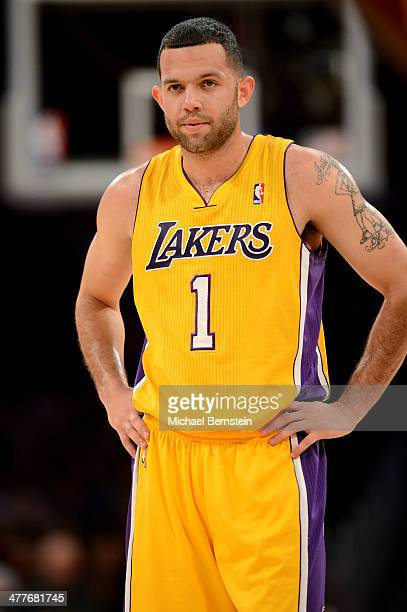 Jordan Farmar of the Los Angeles Lakers during a game against the New Orleans Pelicans at Staples Center on November 12 2013 in Los Angeles...