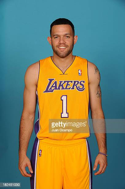 Jordan Farmar of the Los Angeles Lakers poses for a head shot during media day at Toyota Sports Center on September 28 2013 in El Segundo California...