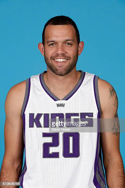 Jordan Farmar of the Sacramento Kings poses for a headshot during the 20162017 Sacramento Kings Media Day on September 26 2016 at the Kings practice...