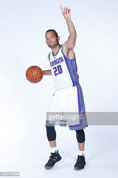Jordan Farmar of the Sacramento Kings poses for a portrait on NBA media day on September 26 2016 at the Kings practice facility in Sacramento...