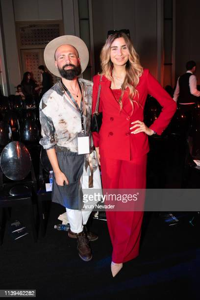Jordan Fashion Week Stylist and Runway Choreographer Alaa Samman and media personality and Editor in Chief of Living Well Dana Darwish attend Jordan...