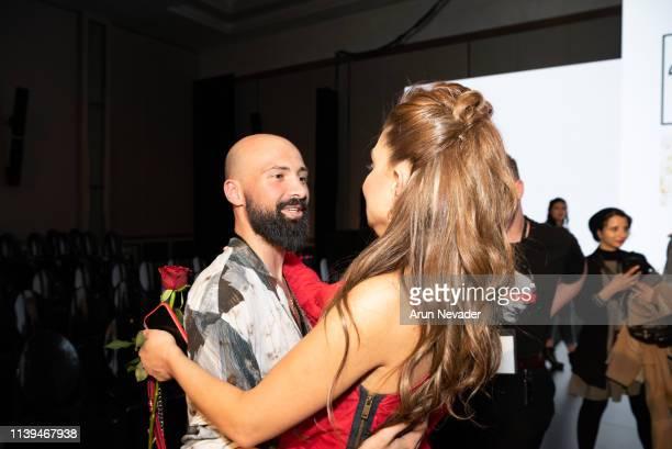 Jordan Fashion Week Stylist and Runway Choreographer Alaa Samman and Founder of Jordan Fashion Week Shirene Rifai attend Jordan Fashion Week 019 on...