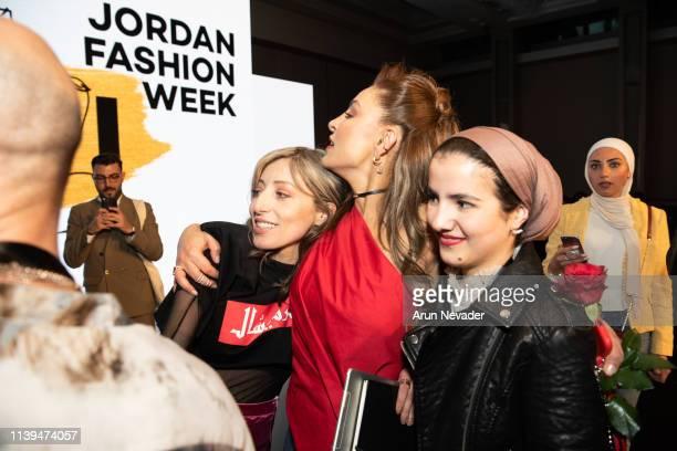 Jordan Fashion Week Stylist Uns Ghassib Founder of Jordan Fashion Week Shirene Rifai and team members celebrate the finale of Jordan Fashion Week 019...