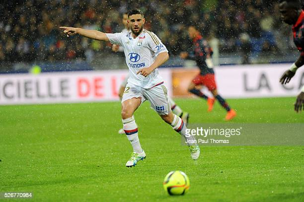 Jordan FERRI of Lyon during the French Ligue 1 match between Olympique Lyonnais and Gazelec GFC Ajaccio at Stade des Lumieres on April 30 2016 in...