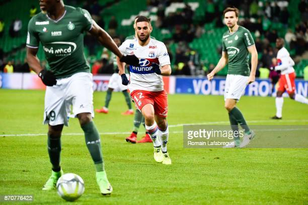 Jordan Ferri of Lyon during the Ligue 1 match between AS Saint Etienne and Olympique Lyonnais at Stade GeoffroyGuichard on November 5 2017 in Saint...
