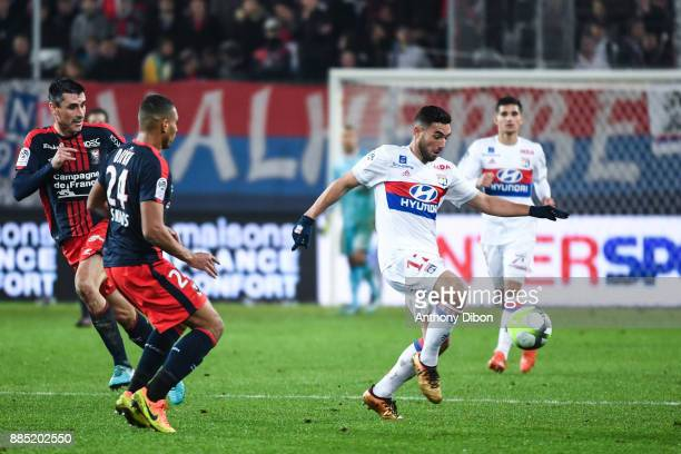 Jordan Ferri of Lyon during the Ligue 1 match between SM Caen and Olympique Lyonnais at Stade Michel D'Ornano on December 3 2017 in Caen