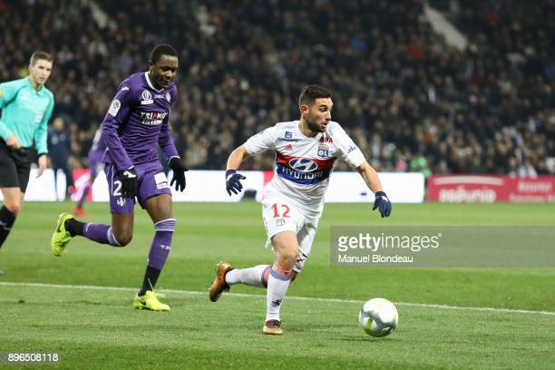 Jordan Ferri of Lyon during the Ligue 1 match between Toulouse and Olympique Lyonnais at Stadium Municipal on December 20 2017 in Toulouse