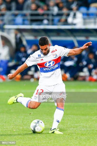 12 Jordan Ferri of Lyon during the Ligue 1 match between Troyes AC and Olympique Lyonnais at Stade de l'Aube on October 22 2017 in Troyes