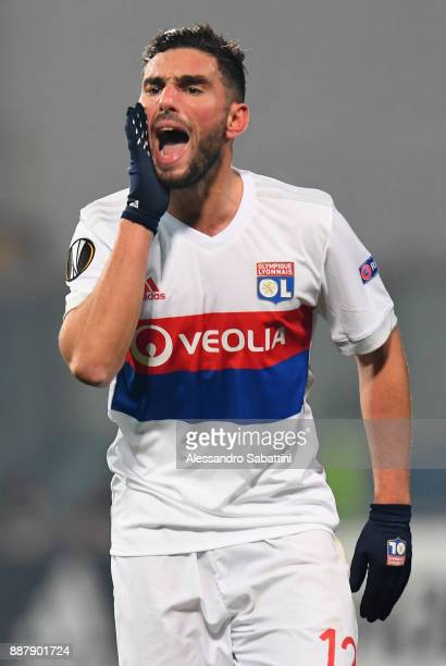 Jordan Ferri of Olympique Lyon gestures during the UEFA Europa League group E match between Atalanta and Olympique Lyon at Mapei Stadium Citta' del...