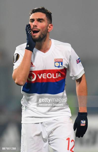 Jordan Ferri of Olympique Lyon reacts during the UEFA Europa League group E match between Atalanta and Olympique Lyon at Mapei Stadium Citta' del...