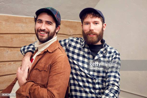 Jordan Firstman and Charles Rogers from the film 'Men Don't Whisper' pose for a portrait in the YouTube x Getty Images Portrait Studio at 2018...