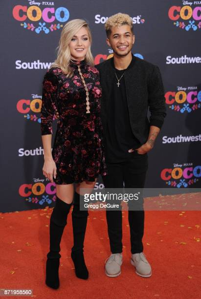 Jordan Fisher and Lindsay Arnold arrive at the premiere of Disney Pixar's 'Coco' at El Capitan Theatre on November 8 2017 in Los Angeles California