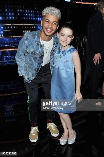 Jordan Fisher and Mckenna Grace attend ABC's Dancing With The Stars Athletes Season 26 show on April 30 2018 in Los Angeles California