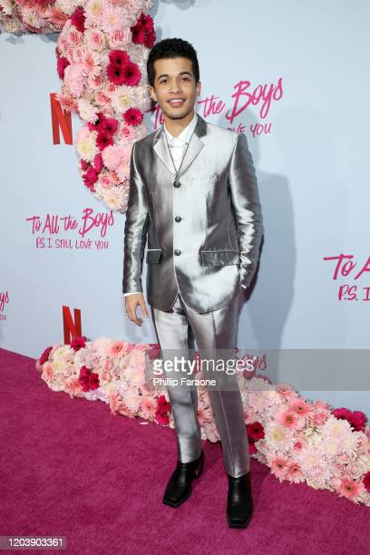 Jordan Fisher attends the premiere of Netflix's To All The Boys PS I Still Love You at the Egyptian Theatre on February 03 2020 in Hollywood...