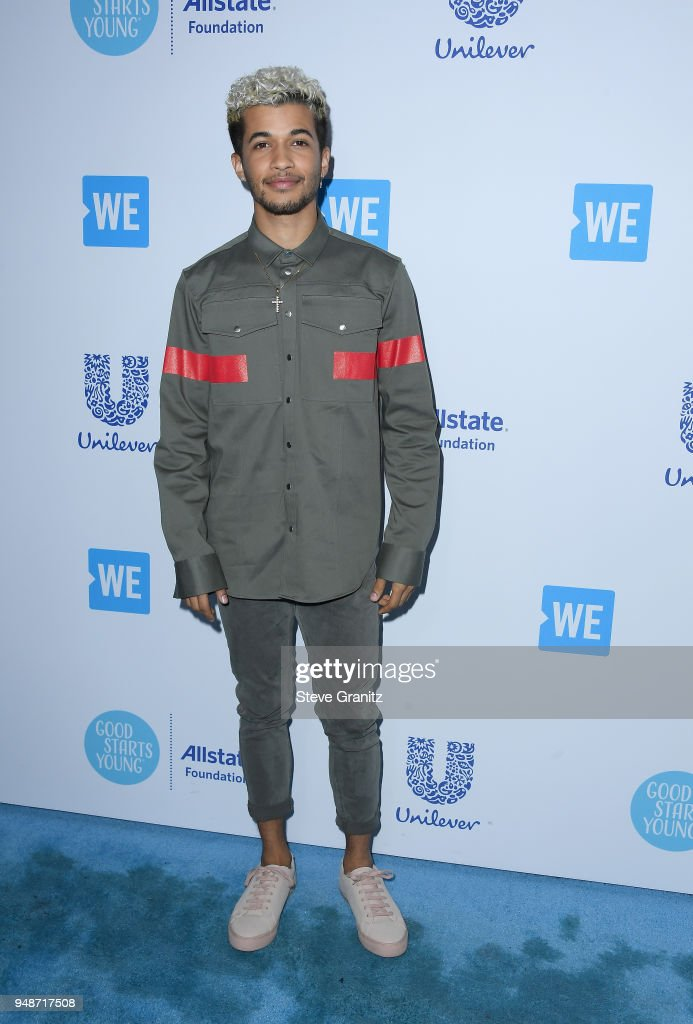 Jordan Fisher attends WE Day California at The Forum on April 19, 2018 in Inglewood, California.