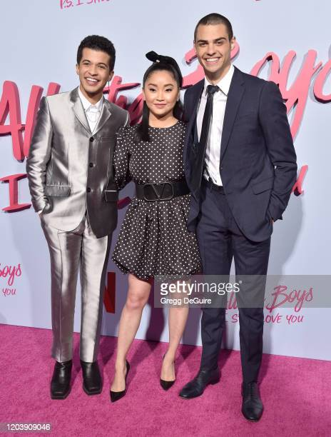 Jordan Fisher Lana Condor and Noah Centineo attend the Premiere Of Netflix's To All The Boys PS I Still Love You at the Egyptian Theatre on February...