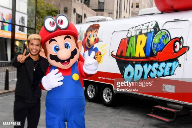 Jordan Fisher multitalented star and current contestant on Dancing with the Stars and Mario cohost the Super Mario Odyssey for Nintendo Switch launch...