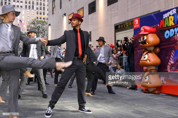 Jordan Fisher multitalented star and current contestant on Dancing with the Stars cohost the Super Mario Odyssey for Nintendo Switch launch event on...