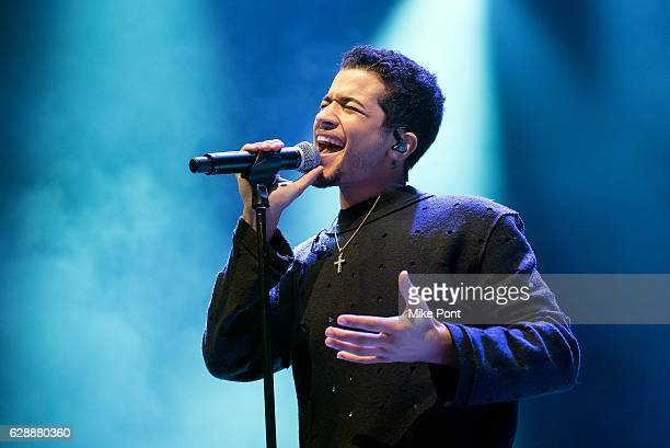 Jordan Fisher performs during the 2016 Z100 Jingle Ball Pre Show at Hammerstein Ballroom on December 9 2016 in New York City