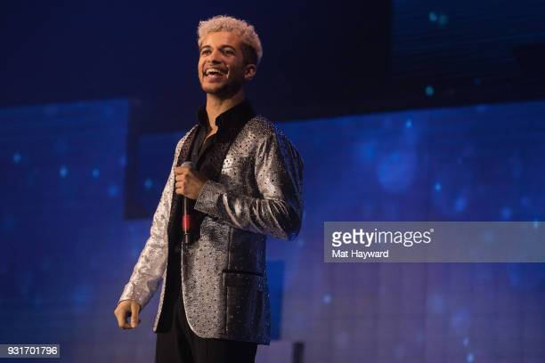 Jordan Fisher performs on stage during Dancing With The Stars Live at WaMu Theater on March 13 2018 in Seattle Washington