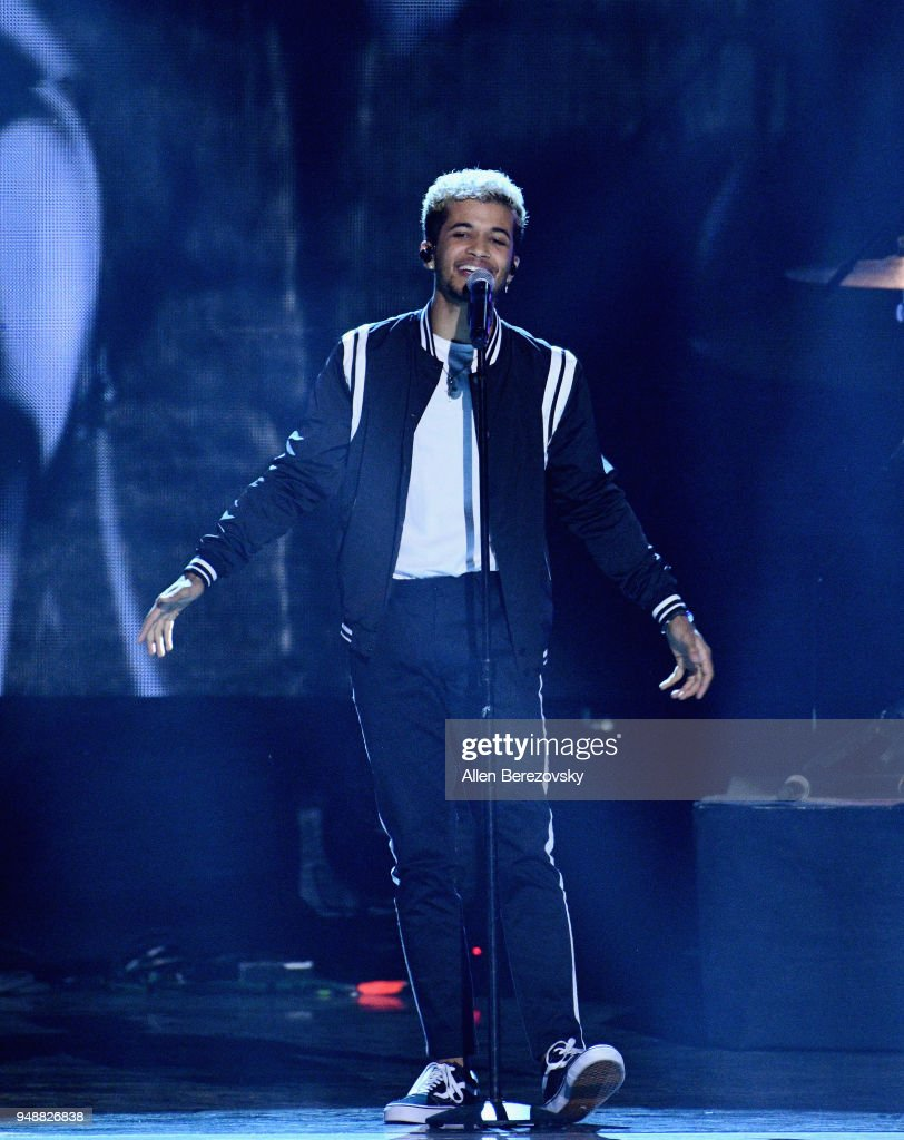 Jordan Fisher performs onstage at WE Day California at The Forum on April 19, 2018 in Inglewood, California.