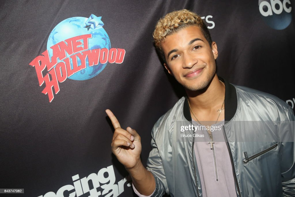 Jordan Fisher poses at ABC's 'Dancing with the Stars' Season 5 cast announcement event at Planet Hollywood Times Square on September 6, 2017 in New York City.