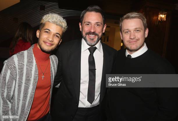 Jordan Fisher Steve Kazee and Michael Arden pose at The Opening Night After Party for the Broadway bound musical based on the iconic film Pretty...