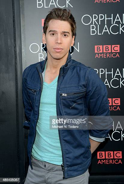 Jordan Gavaris attends the Orphan Black premiere at Sunshine Cinema on April 17 2014 in New York City