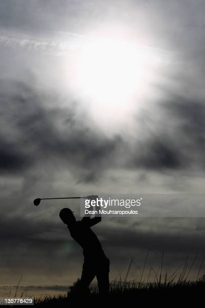 Jordan Gibb of England hits his tee shot on the 6th hole during Round 5 of the European Tour Qualifying School Final at the PGA Catalunya Resort Golf...