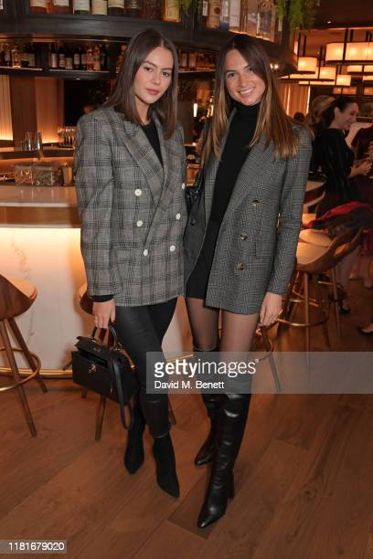 Jordan Grant and Alice Jeffrey attend a lunch hosted by Amanda Staveley for 'Wellbeing Of Women', Britain's foremost female health charity investing...