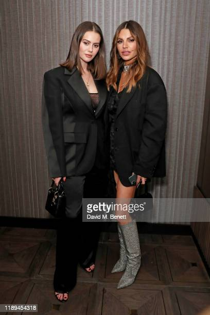 Jordan Grant and Misse Beqiri attend the Decorte Dinner at The Arts Club on December 18 2019 in London England