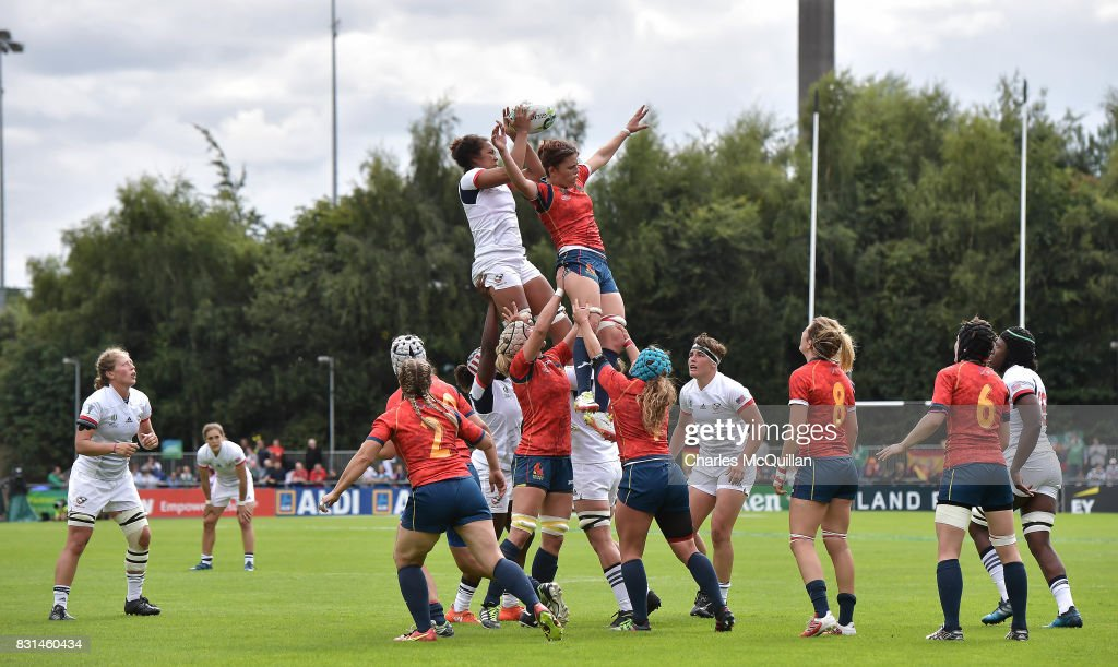 USA v Spain - Women's Rugby World Cup 2017 : News Photo