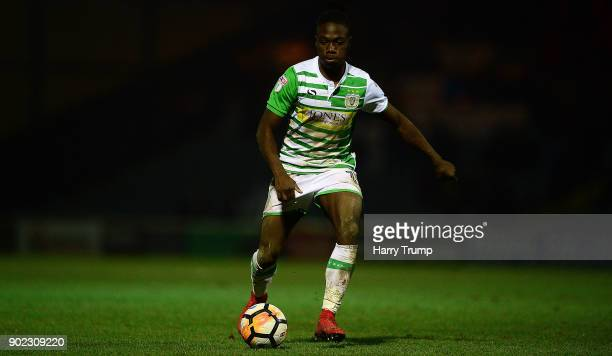 Jordan Green of Yeovil Town during The Emirates FA Cup Third Round match between Yeovil Town and Bradford City at Huish Park on January 6 2018 in...