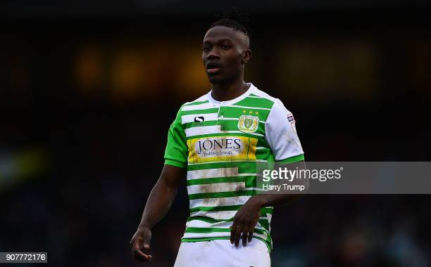 Jordan Green of Yeovil Town during the Sky Bet League Two match between Yeovil Town and Chesterfield at Huish Park on January 20 2018 in Yeovil...