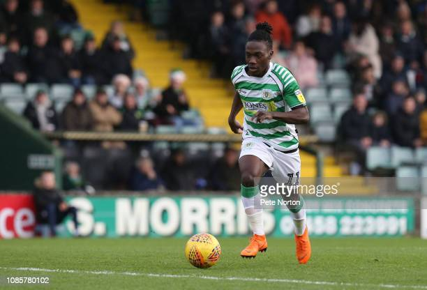 Jordan Green of Yeovil Town in action during the Sky Bet League Two match between Yevoil Town and Northampton Town at Huish Park on December 22, 2018...